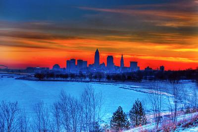 Cleveland Edgewater Sunrise 2013 073_4_5_tonemapped