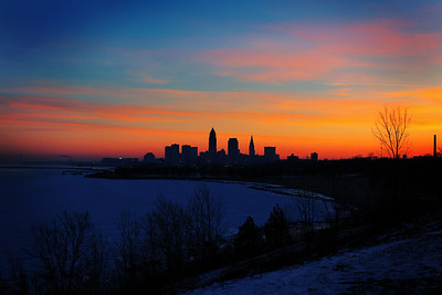 Cleveland Edgewater Sunrise 2013 056_7_8_tonemapped