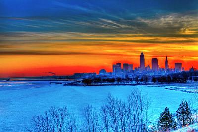 Cleveland Edgewater Sunrise 2013 118_19_20_tonemapped
