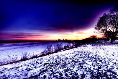 Cleveland Edgewater Sunrise 2013 036_7_8_tonemapped