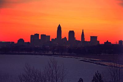 Cleveland Edgewater Sunrise 2013 076_7_8_tonemapped