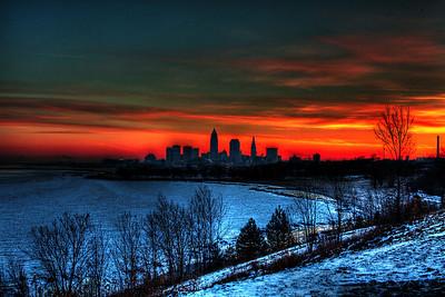Cleveland Edgewater Sunrise 2013 068_69_70_tonemapped
