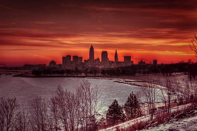 Cleveland Edgewater Sunrise 2013 079_80_81_tonemapped