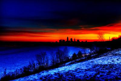 Cleveland Edgewater Sunrise 2013 048_49_50_tonemapped