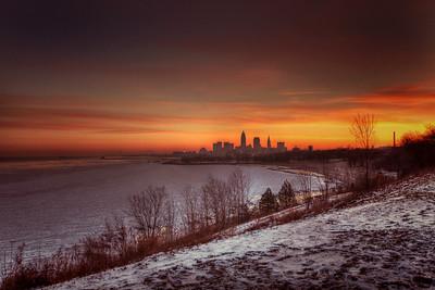 Cleveland Edgewater Sunrise 2013 045_6_7_tonemapped