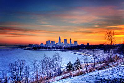Cleveland Edgewater Sunrise 2013 059_60_61_tonemapped
