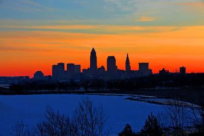 Cleveland Edgewater Sunrise 2013 109_10_11_tonemapped