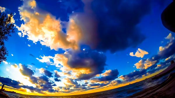 Whiskey Island Sunset Timelapse Video 2