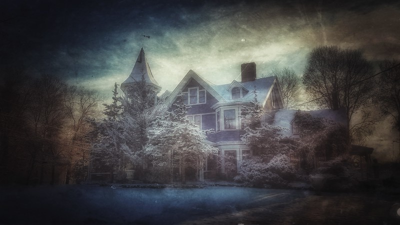 Snow Storm, December 14, 2017, Goshen, NY. It deserved a Gothic Overtone. Shot with Samsung Mobile Galaxy S7, Edited with Snapseed