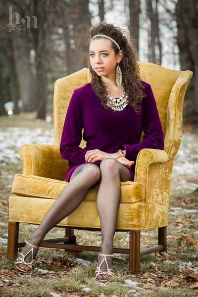 Sarah--Purple Shoot