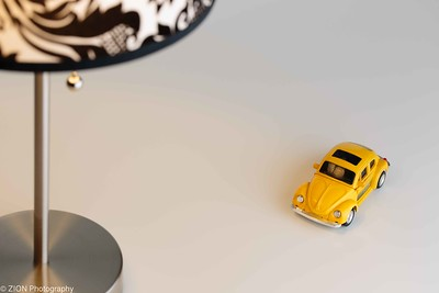 Table Lamp and Yellow VW