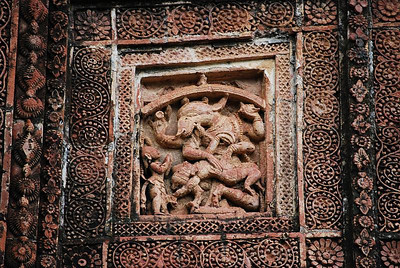 Details of terra cotta carving