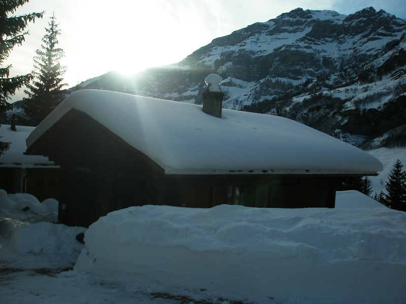 The sun and the snow