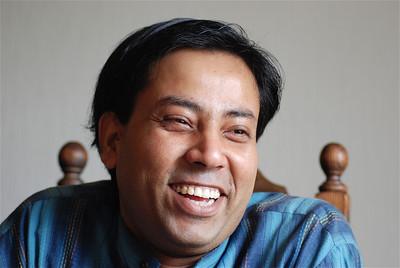 Rajib smiling