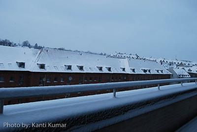 First snow in Copenhagen 2012 winter