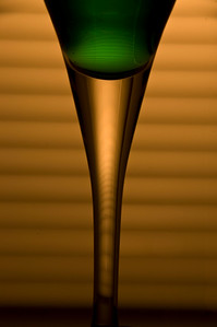 Glass in gold and green
