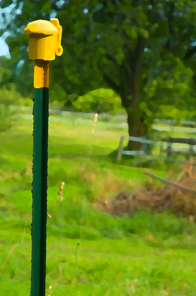 Electric fence post