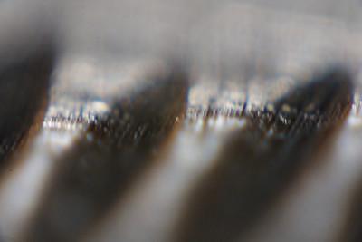 The serration on a knife.