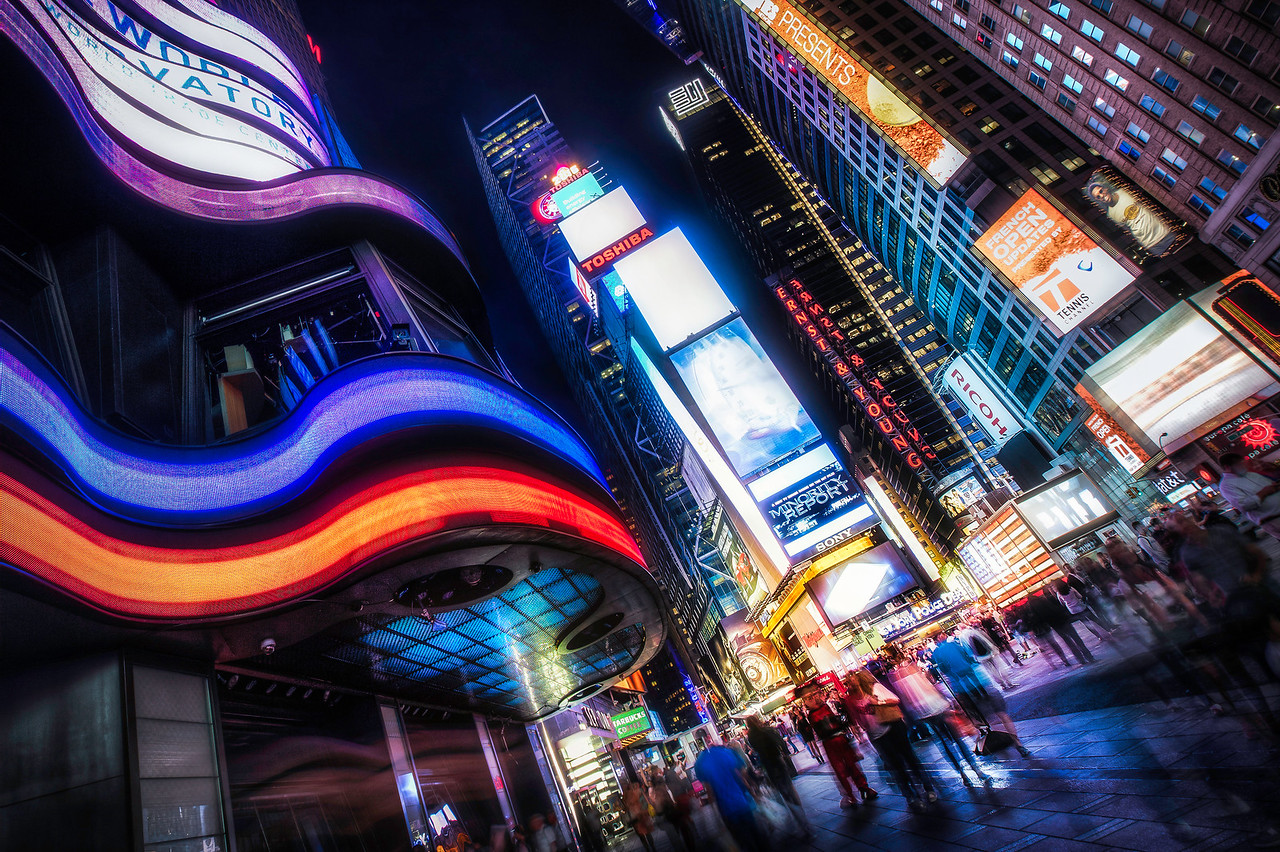 Energy Flow in Times Square
