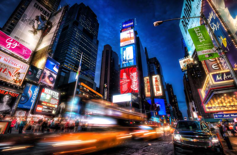 Times Square Rush New York City