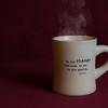 Hot coffee with a little bit of wisdom