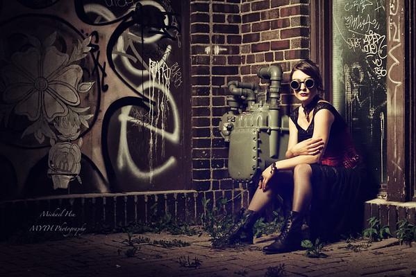Steampunk in Alley