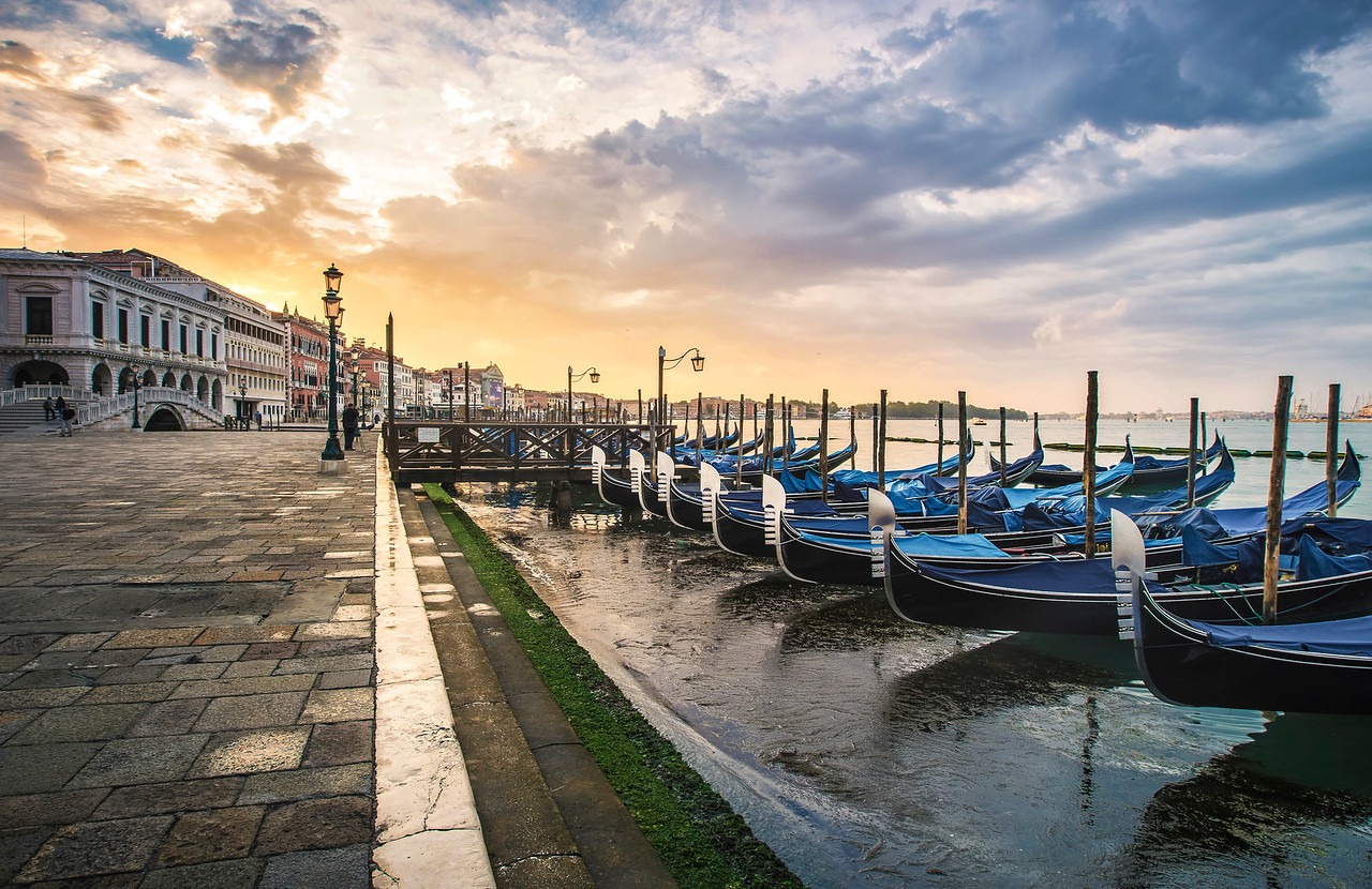 Pastel Sky Over Venice