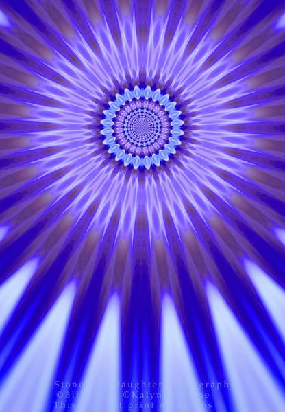 blue and purple burst