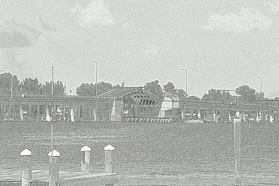 Cortez Bridge over Sarasota Pass...Bradenton Beach,Fl.  ©2014  RobertLesterPhography.com