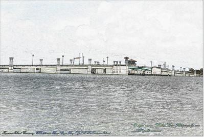 Florida Movable Bridges.....Treasure Island Causeway,CR 150 over Boca Ciega Bay(GIWW),Treasure Island
