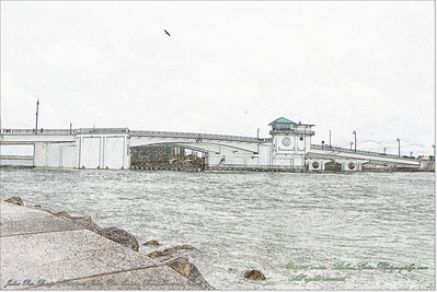 Florida Movable Bridges.....Johns Pass Bridge,SR 699 over Johns Pass,Madeira Beach-Treasure Island