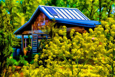 """The Gardener's Shed"" North Carolina Arboretum, Asheville, NC  ~ Editor's Pick 