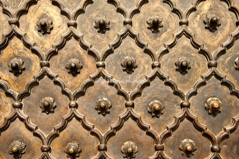 Door pattern at Jami Masjid Mosque, Delhi, India