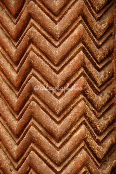 Ancient Parsee pattern found on wall of Purana Qil, Old Fort, Delhi, India