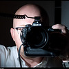 Self portrait and experimenting with my new flash tether.