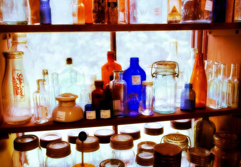 Bottles in Window