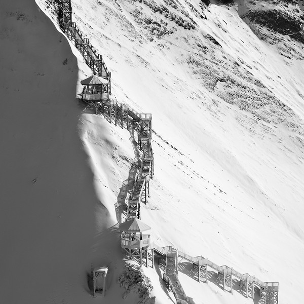 Snow Stairs, Montmorency Falls, Quebe