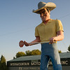 Cowboy man Intermountain Motorhome RV, near Wendell Idaho, off of Highway 84.