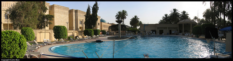 Pool of the Presidentail Palace in the I.Z. or International Zone - Baghad Iraq.