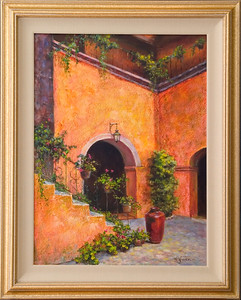 Wendy's painting-courtyard