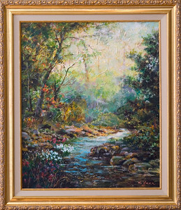 Wendy's painting-stream,acylic