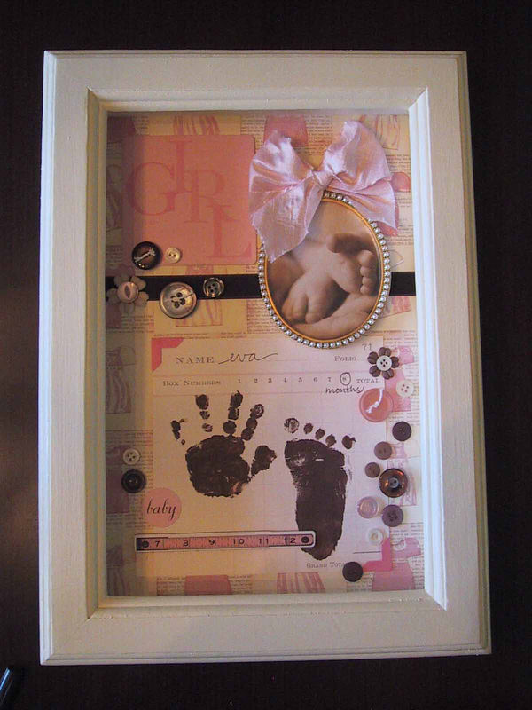 shadow box for Eva's room