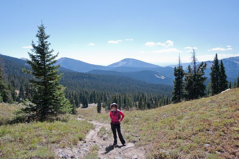 Hiking up the Scarp Ridge