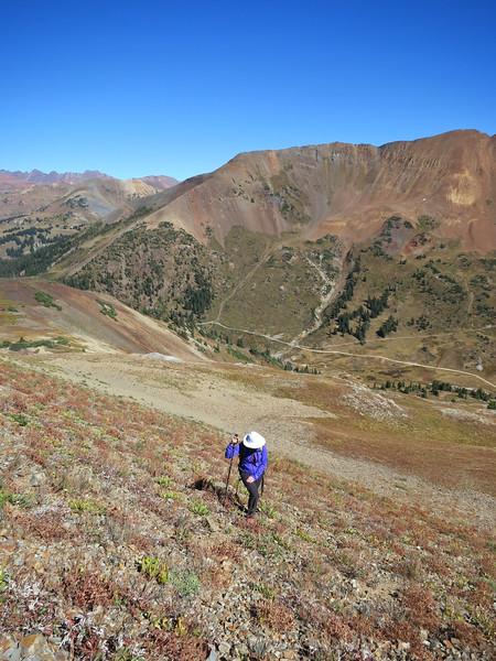 Hiking/scrambling up Cinnamon Peak