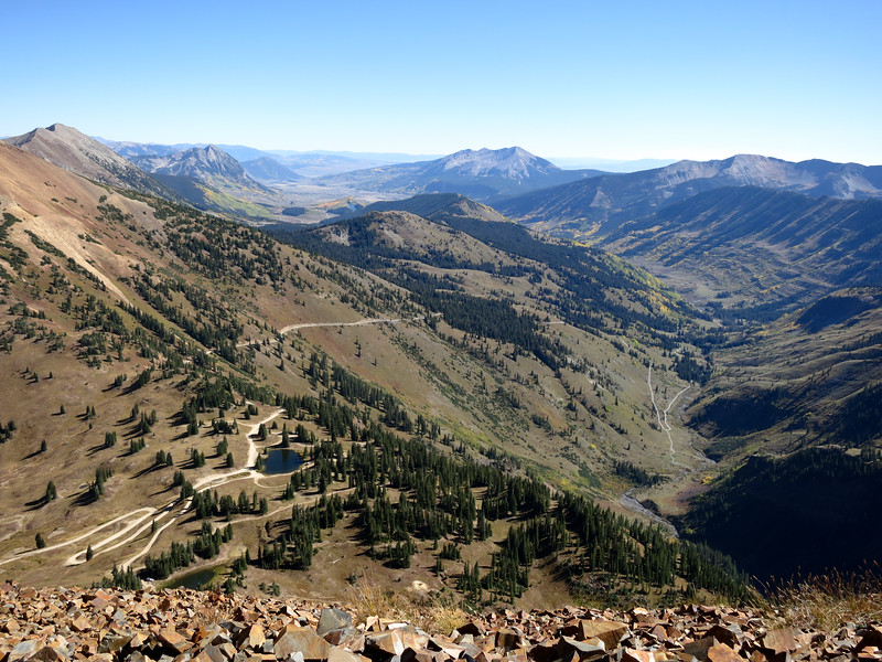 Looking up the valley towards Crested Butte
