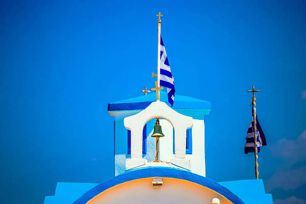 Greek Flag on Orthodox Church