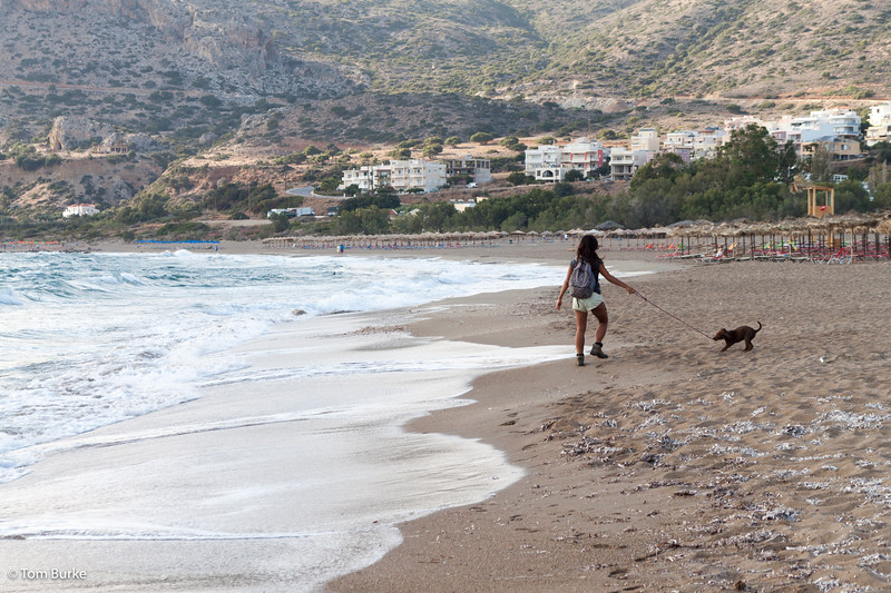 Palaiochora west beach, on a windy day