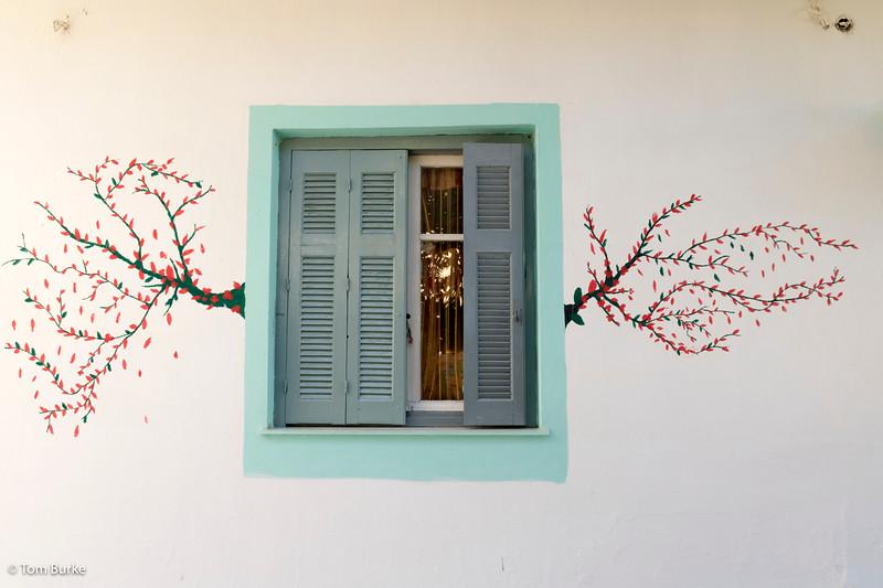 Cottage window in Palaiochora