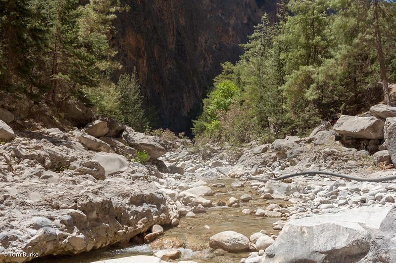 In the Samaria Gorge