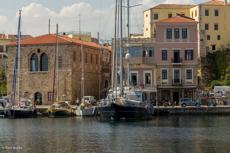 Boats in Chania harbour
